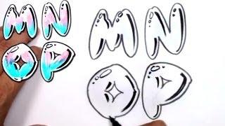 Graffiti Letters Alphabet Bubble Letters Alphabet M N O P - MAT