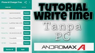Tutorial Write IMEI Andromax A Tanpa PC ( Not For All Rom )