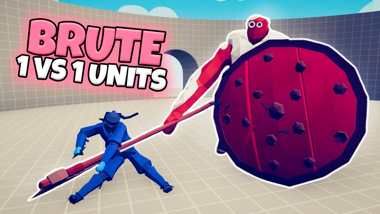 BRUTE 1 VS 1 EVERY UNIT | TABS MODDED GAMEPLAY