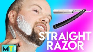 Men Try Shaving with a Straight Razor for the First Time