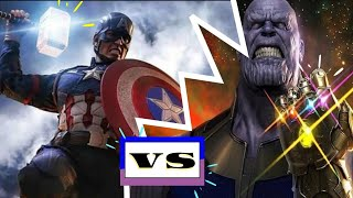 Captain America vs Thanos with Immigrant Song (Led Zeppelin) - Thor: Ragnarok Theme