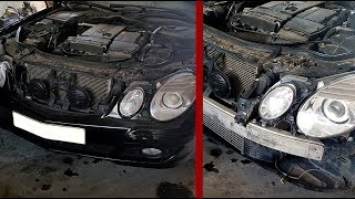 How to remove the front bumper for Mercedes W211 Restyling / Removing front bumper on W211 Restyling