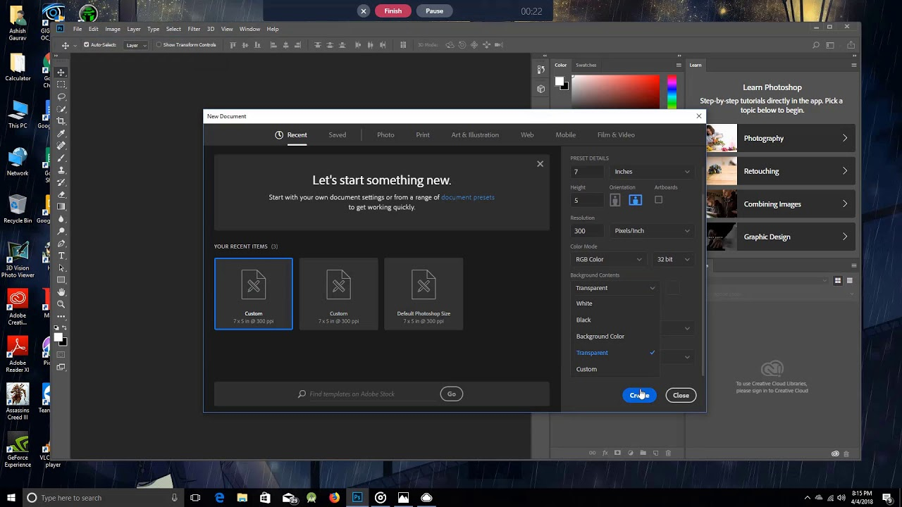 How To Get Transparent Background In Photoshop Cc 2018 Youtube