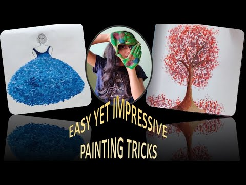 Easy Painting Technique With Earbuds/Pencap | 5 Minutes DIY Art | Easy Painting For Beginners