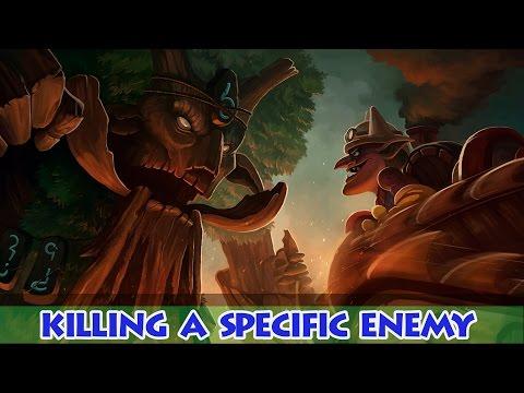 Dota 2 - Killing a specific enemy, Alchemist, Huskar, Brewmaster, Treant, Centaur, Timbersaw