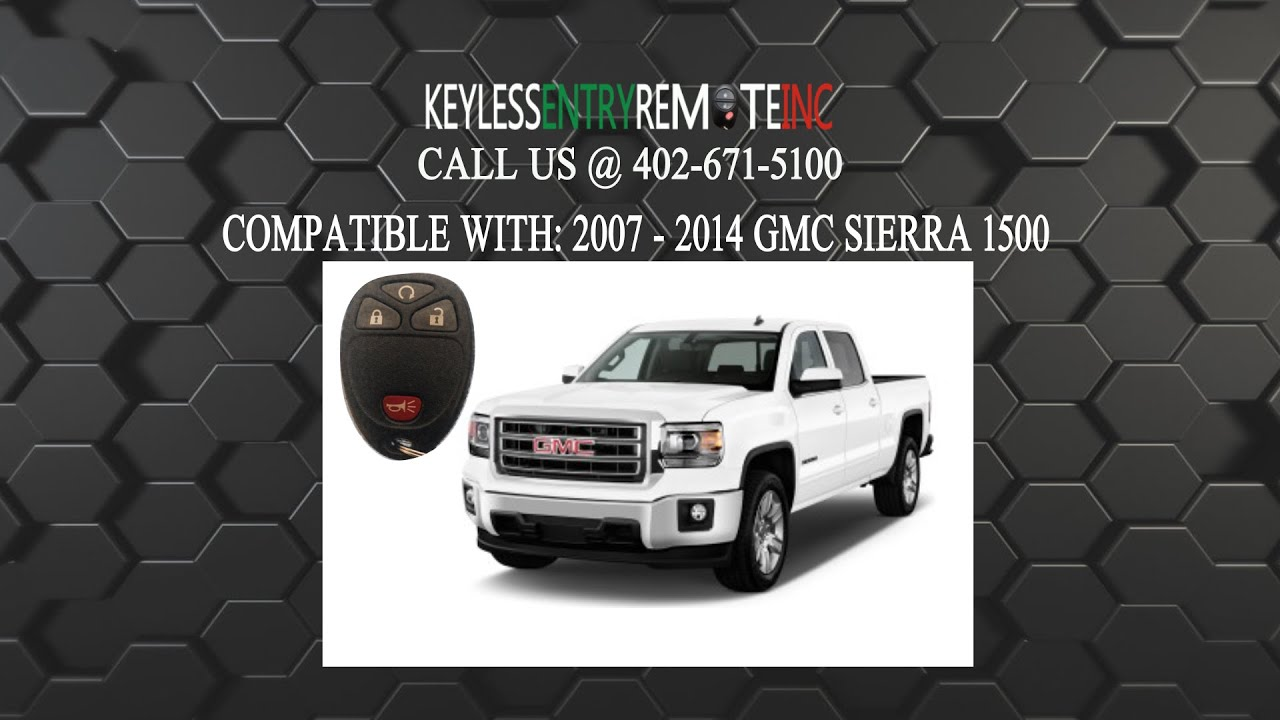 How To Replace Gmc Sierra 1500 Key Fob Battery 2007 2008 2009 2010 2017