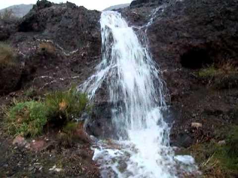 Old Mine Rd Waterfall - Arizona Nevada border - YouTube