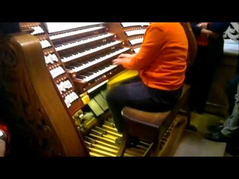 Toccata and Fugue in D minor, J.S. Bach - Amazing Live Play - Passau Domorgel