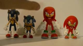Wakeangel2K1 review: Tomy Sonic and Knuckles comic 2 packs