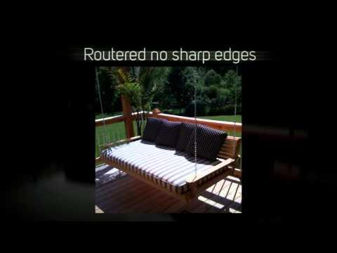 LA Swings Porch Swing Bed