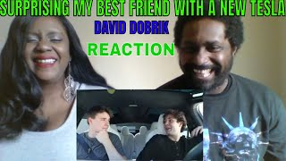 David Dobrik - SURPRISING MY BEST FRIEND WITH A NEW TESLA!! REACTION