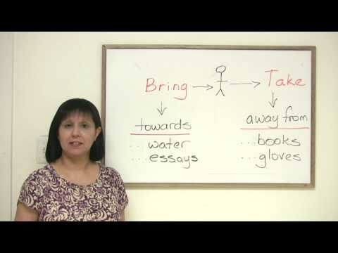 Bring or Take? - Confusing words in English