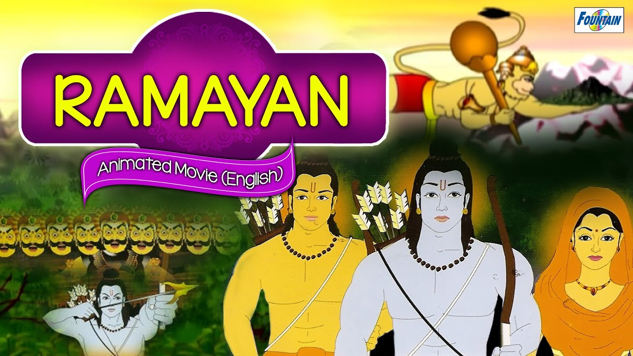 Ramayan (Hindi) - Animated Cartoon Full Movie | Hindi Story for Children