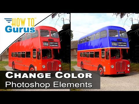 How To Change Color Of Anything Replace Color Tool Adobe Oshop Elements Tutorial