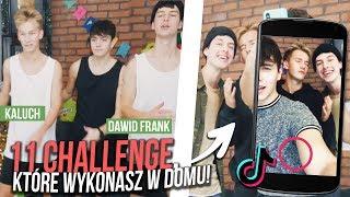 11 CHALLENGE, KTÓRE WYKONASZ W DOMU! | JDabrowsky, Kaluch i Dawid Frank