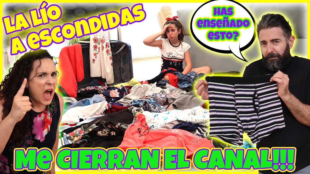 Mis PADRES ME CIERRAN EL CANAL y ME HACEN LLORAR!!! A ESCONDIDAS ENSEÑO QUÉ hay EN SU MALETA!!!