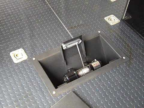 Trailer Winch Mount >> In floor winch mount Midwest Race Cabinets - YouTube