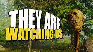 THEY ARE WATCHING US (The Forest Hard Mode Survival) #4