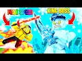 I used the FASTEST SWORD to FIGHT the MAX KING BOSS.. (Roblox)