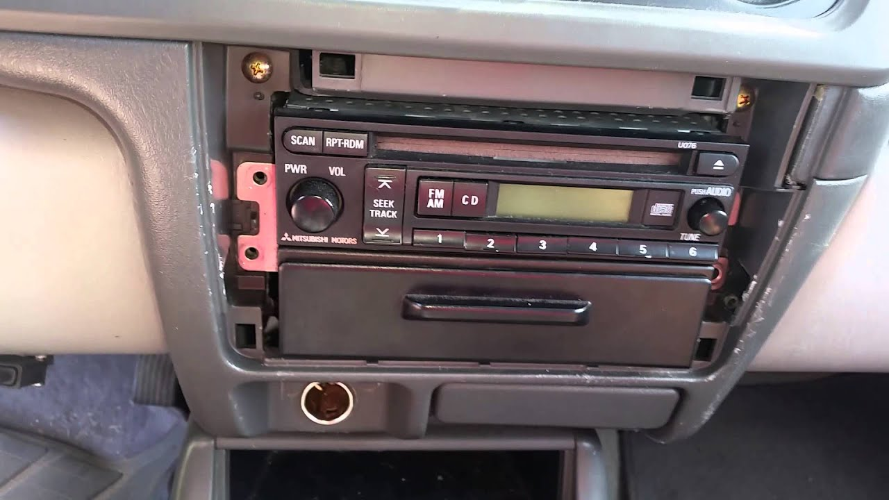 maxresdefault 2002 mitsubishi montero sport stereo removal youtube 2002 mitsubishi montero stereo wiring diagram at bayanpartner.co