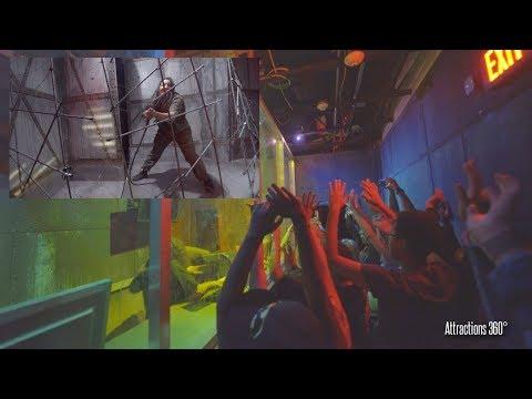 [4K] Vault 666 Haunted Maze - Fright Fest 2017 - Six Flags Magic Mountain