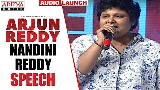 Nandini Reddy Superb Speech @ Arjun Reddy Audio Launch || Vijay Devarakonda || Shalini