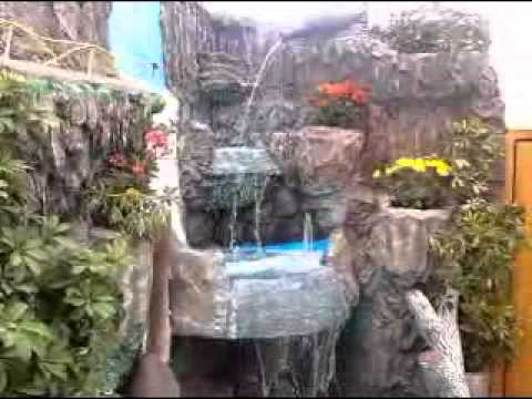 Relief Decoration  waterfalls and painting  YouTube