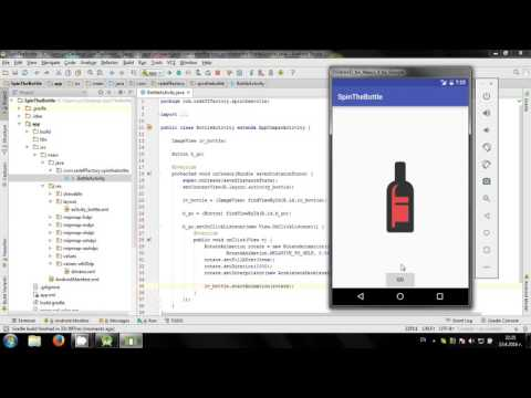 Develop Spin The Bottle game in Android Studio