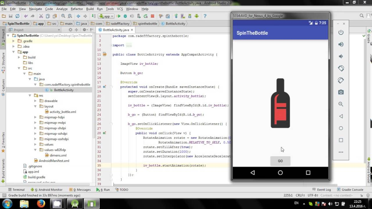 Learn to create a Roll Dice game with Android Studio - YouTube