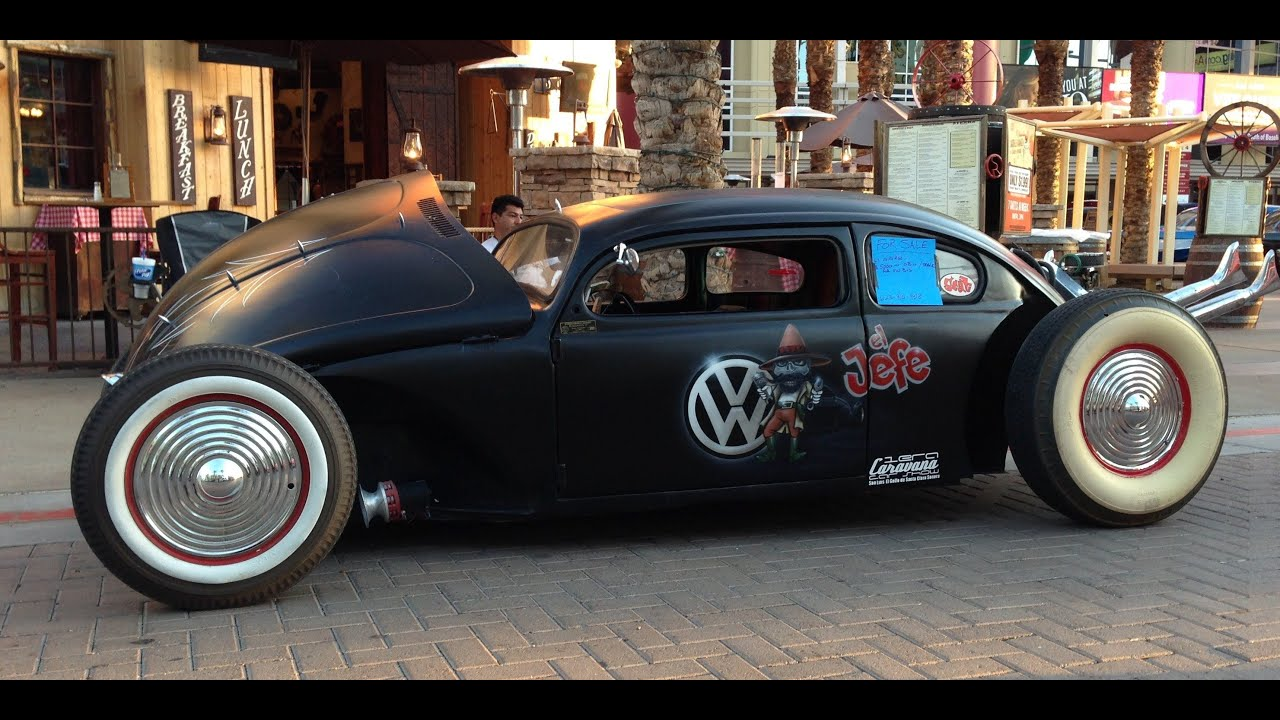 1967 Volkswagen Beetle Rat Rod Volks Rod Chopped - YouTube