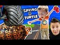 WE SAVED AN INJURED TURTLE!! FUNnel Vision Pet Sma
