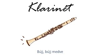 Hangszer ovi - Bújj, bújj medve (klarinét) / Hungarian folk children song with animals