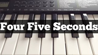 FourFiveSeconds - Rihanna | Easy Keyboard Tutorial With Notes (Right Hand)