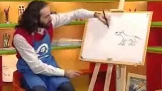 ვხატავთ მგელს და მელიას