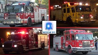Montreal Fire Services - Part 6 // Service Incendie Montreal (compilation)
