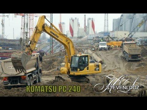 KOMATSU PC 240 NCL - Máy xúc làm việc - Excavator in action