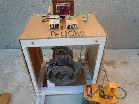 Como hacer electricidad gratis hasta 1200 volts tutorial - Generador de electricidad ...