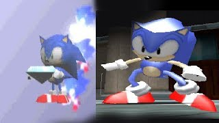 3D Classic Sonic Model from 2004? PS2 Sonic Mega and Gems collections