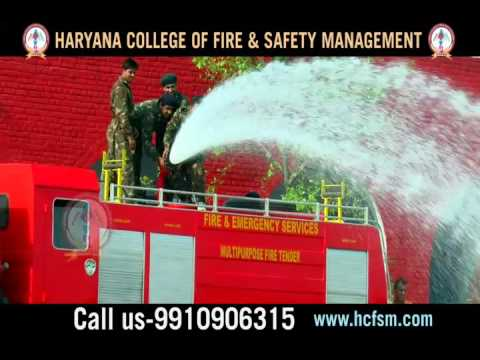 Fire Tender Drill at Haryana College of Fire & Safety Management India