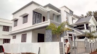 Stylish New house for sale in Kerala 4cent 2000 sqft 4 attached bed room beautiful & quality house