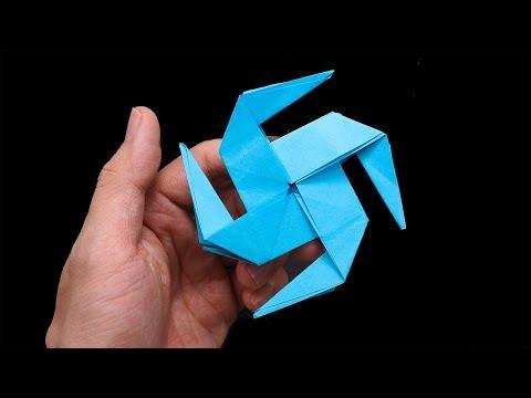 Easy Origami Paper Ninja star 4 points - Origami Estrela Ninja