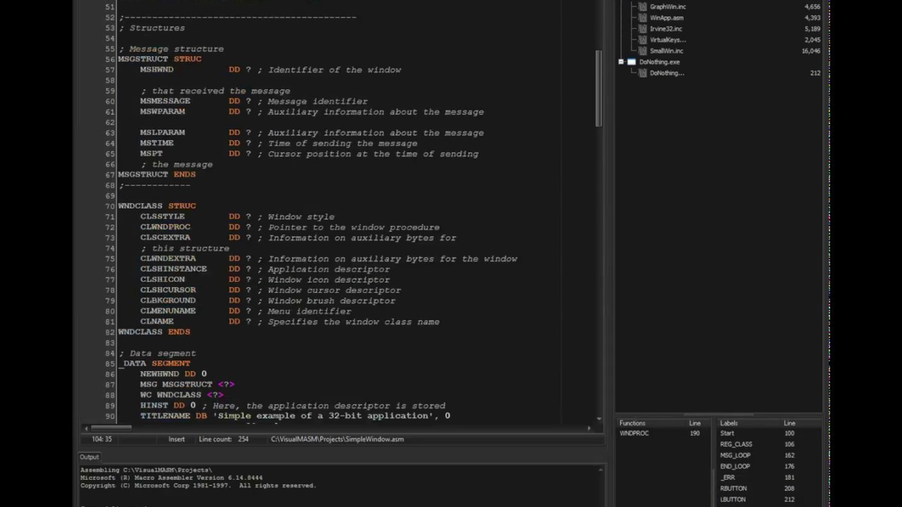 Visual MASM - The MASM IDE for Microsoft Macro Assembler - Home