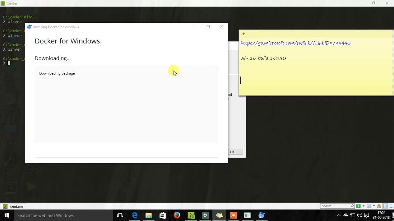 Docker not installing in Windows 10 Pro, Update to 1803 - PART-1