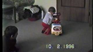 funny baby accident