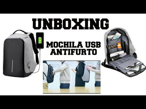 Unboxing Mochila Antifurto USB Gearbest sem imposto
