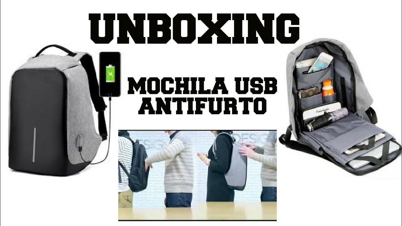 66d800065 Unboxing Mochila Antifurto USB Gearbest sem imposto - YouTube