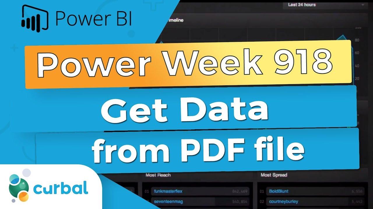 Get Data From Pdf In Power Bi Power Week 918 September Update