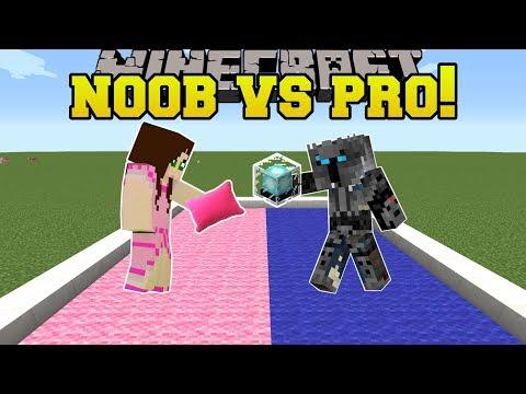 Minecraft: NOOB VS PRO!!! - PILLOW FIGHT! - Mini-Game