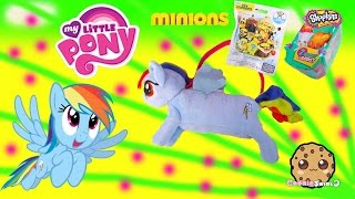 MLP Rainbow Dash Toy Surprise Purse Mini Plush, Minions & Shopkins Season 3 Blind Bags Video