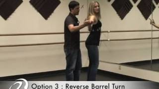 Salsa On2 Dance Lesson : Reverse Barrel Turn